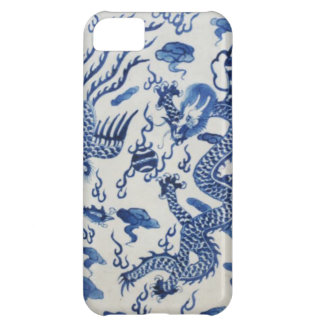 Vintage chinese dragon chinoiserie monaco blue case for iPhone 5C