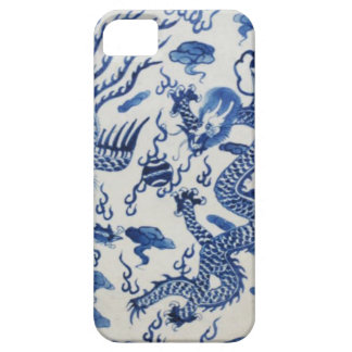 Vintage chinese dragon chinoiserie monaco blue iPhone SE/5/5s case
