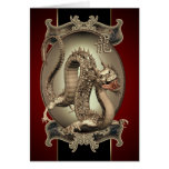 Vintage Chinese Dragon Greetings And Notecards Card