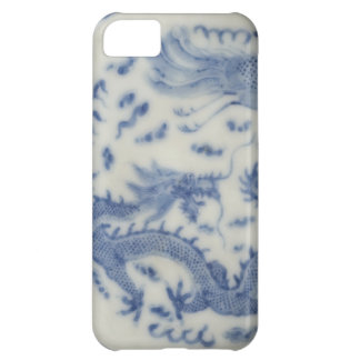 Vintage chinese dragon monaco blue chinoiserie cover for iPhone 5C