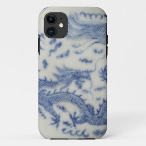 Vintage chinese dragon monaco blue chinoiserie Phone Case