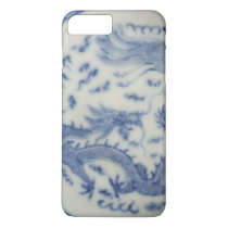 Vintage chinese dragon monaco blue chinoiserie iPhone 7 plus case