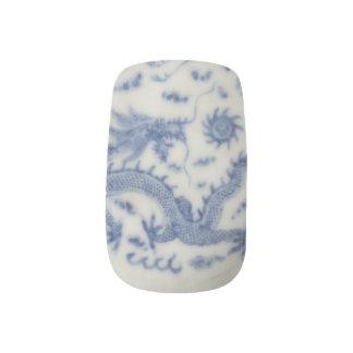 Vintage chinese dragon monaco blue chinoiserie  Minx® nail art