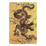 Vintage Chinese Dragon Poster