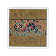 Vintage Chinese Dragon Symbol of Strength Acrylic Tray