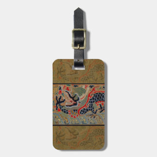 Vintage Chinese Dragon Symbol of Strength Bag Tag
