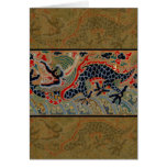 Vintage Chinese Dragon Symbol of Strength Card