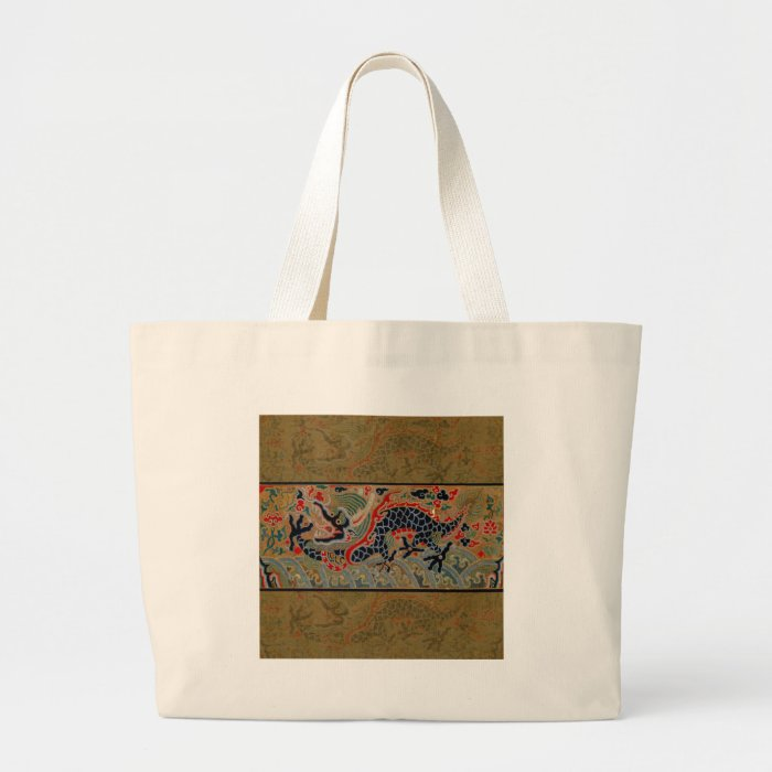Vintage Chinese Dragon Symbol of Strength Large Tote Bag