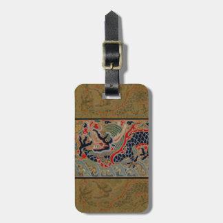 Vintage Chinese Dragon Symbol of Strength Travel Bag Tag