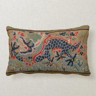 Vintage Chinese Dragon Symbol of Strength Lumbar Pillow
