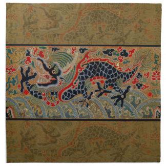 Vintage Chinese Dragon Symbol of Strength Napkin