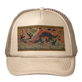 Vintage Chinese Dragon Symbol of Strength Trucker Hat