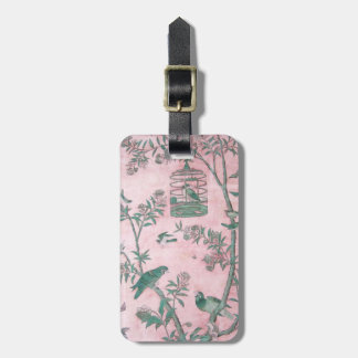 Vintage Chinese Floral Bag Tag
