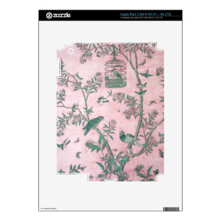 Vintage Chinese Floral Decal For iPad