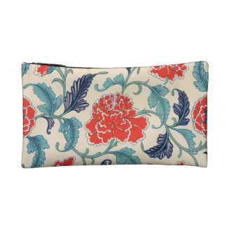 Vintage Chinese Floral Design Makeup Bag