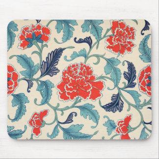 Vintage Chinese Floral Design Mousepad