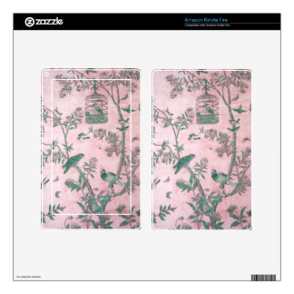 Vintage Chinese Floral E-Reader Skin Kindle Fire Decal
