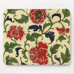 Vintage Chinese Flower Vine - Mousepad