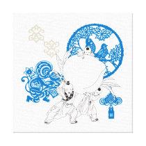 Vintage Chinese Pattern Design Canvas Print