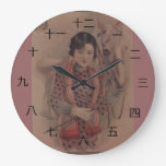 Vintage Chinese postcard clock