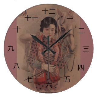 Vintage Chinese postcard clock