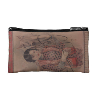 Vintage Chinese postcard small cosmetic bag