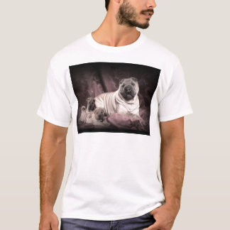 Vintage Chinese Shar Pei Wrinkles, Puppy Dogs T-Shirt