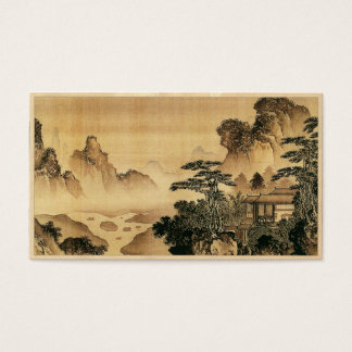 Vintage Chinese Sumi-e painting landscape scenery Business Card