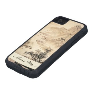 Vintage Chinese Sumi-e painting landscape scenery Case For iPhone 5