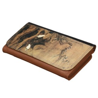 Vintage Chinese Sumi-e painting landscape scenery Wallet