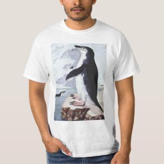 Vintage Chinstrap Penguin, Birds from Antarctica T-Shirt
