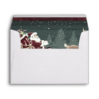 Vintage Chirstmas Papá Noel con la decoración del  Sobres