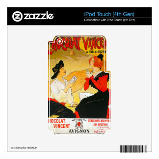 Vintage Chocolat Vincent Ad iPod Touch 4G Decals