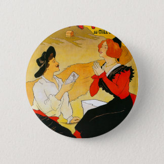 Vintage Chocolat Vincent Ad Pinback Button