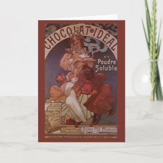 Vintage Chocolate Ad Greeting Cards card
