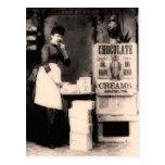 Vintage chocolate advertisement postcard