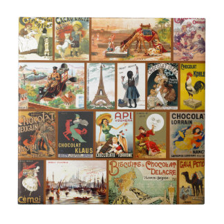 Vintage Chocolate Advertisements Tiles