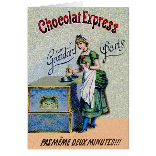 Vintage Chocolate Advertising Cooking Card