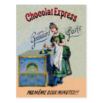Vintage Chocolate Advertising Cooking Postcard