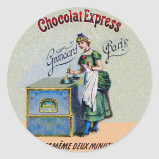 Vintage Chocolate Advertising Cooking Classic Round Sticker