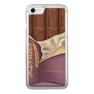 Vintage Chocolate Bar Unwrapped Carved iPhone 8/7 Case