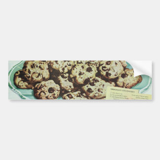 Vintage Chocolate Chip Cookie Recipe Photo 50s Bumper Sticker