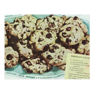 Vintage Chocolate Chip Cookie Recipe Photo 50s Postcard