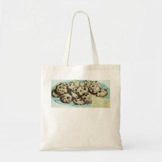Vintage Chocolate Chip Cookie Recipe Photo 50s Tote Bag