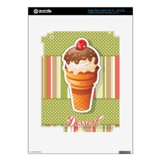 Vintage Chocolate ice cream Decals For iPad 3