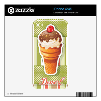 Vintage Chocolate ice cream iPhone 4S Decal