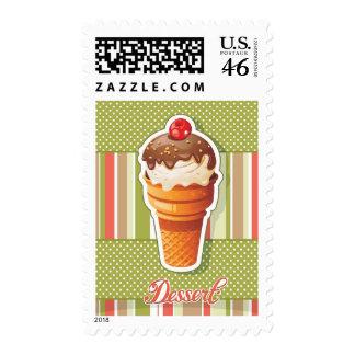 Vintage Chocolate ice cream Stamp