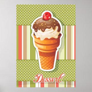 Vintage Chocolate ice cream Poster