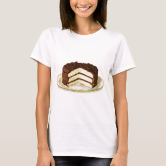 Vintage Chocolate Iced Layer Cake Basic Tshirt