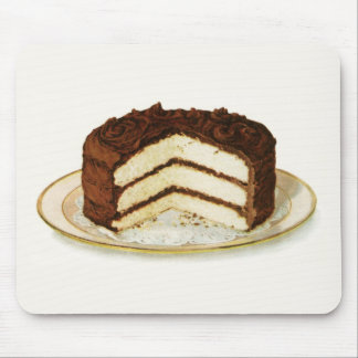 Vintage Chocolate Iced Layer Cake Mousepad
